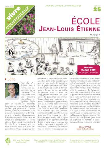 Magazine «Vivre à Couffouleux» n°25