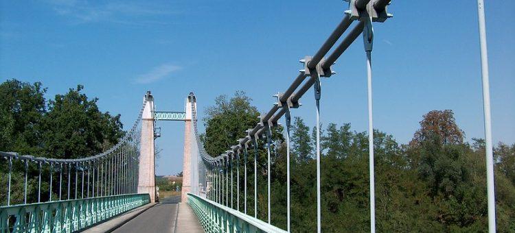Pont suspendu Couffouleux Saint-Sulpice