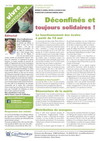 Magazine «Vivre à Couffouleux» numéro spécial Coronavirus