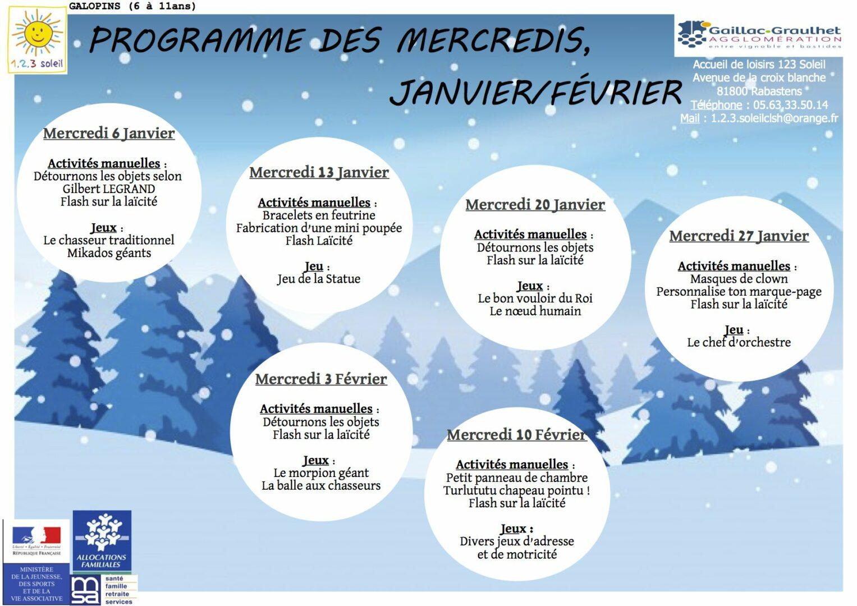 programme mercredis galopins janvier-fevrier